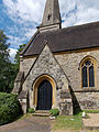 Church of the Holy Innocents, High Beach, Essex, England - porch and nave.jpg