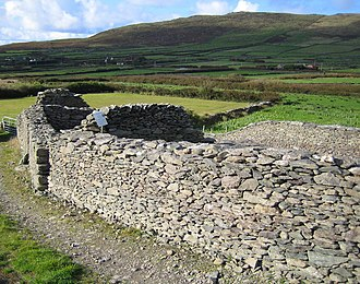 Caherdorgan North - View of a wall of the Chancellor's House