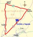 Circuito en Canelones (Uruguay) de la prueba de ciclismo organizada por la Federación Ciclista de Montevideo (2015).png