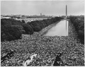 Civil Rights March on Washington, D.C. (A wide-angle view of marchers along the mall, showing the Reflecting Pool and... - NARA - 542045.tif