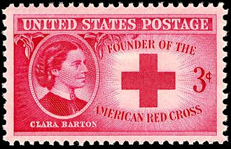 Clara Barton - Clara Barton was honored with a U.S. commemorative stamp, issued in 1948