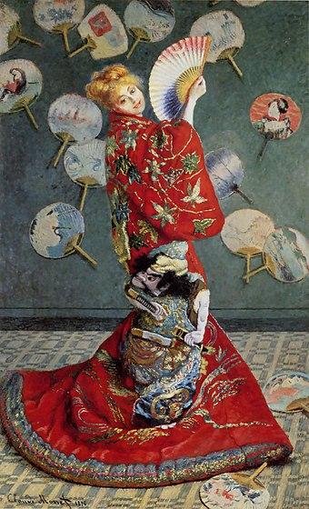 Claude Monet-Madame Monet en costume japonais