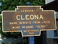 Cleona, PA Keystone Marker in 2003.jpg