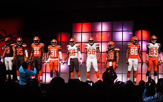 2015 Cleveland Browns season - Image: Cleveland Browns New Uniform Unveiling (17152564342)