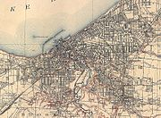 Map of Cleveland in 1904