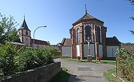 The Protestant church in Climbach