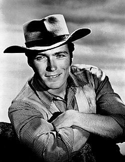 Clint Eastwood sul set di Rawhide (1961)