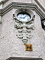 Clock detail on Cathedral Buildings - geograph.org.uk - 667709.jpg