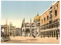 Clock tower, St. Mark's, and Doges' Palace, Piazzetta di San Marco, Venice, Italy-LCCN2001701080.tif