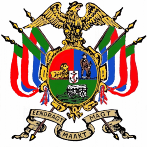 Unity makes strength - 'Eendragt maakt magt' as the motto on the coat of arms of the South African Republic.