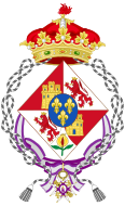 Coat of arms of Isabella of Spain (1851–1931) as Infanta and widow.svg