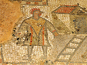 Brading Roman Villa - The cockerel-headed man