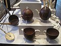 Coconut shell dipper and tea set - Old State House Museum, Boston, MA - IMG 6786.JPG