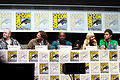 Cody Cameron, Kris Pearn, Terry Crews, Anna Faris and Bill Hader, 2013 San Diego Comic Con.jpg