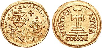 Pannonian Avars - Image: Coins of the Avars 6th 7th centuries CE imitating Ravenna mint types of Heraclius