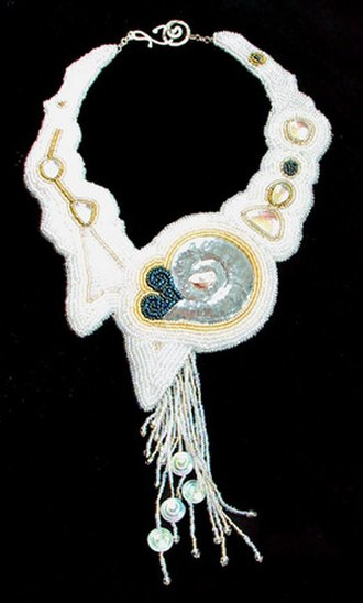 Jewellery - Bead embroidery design.