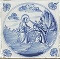Collectie Nationaal Museum van Wereldculturen TM-843-12 Oud Delftsblauw tegeltje met Bijbels tafereel Curacao.jpg