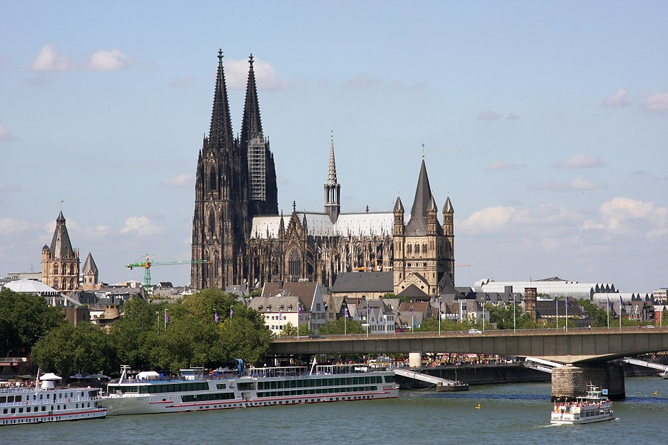 Cologne Cathedral (middle) and Great St. Martin Church right-hand in Cologne, Germany PNr°0162
