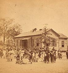 """A """"Colored School"""" in South Carolina, ca.1878"""