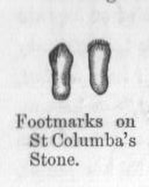 Petrosomatoglyph - Footprints of Saint Columba at Belmont, Londonderry Road, Ireland