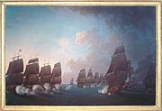 Combat de la Dominique 17 Avril 1780 Rossel de Cercy 1736 1804