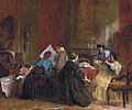 Company of ladies watching stereoscopic photographs by Jacob Spoel 1820-1868.jpg