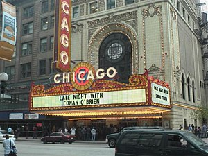Late Night with Conan O'Brien - Chicago Theatre during Conan's week of shows there