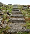 Concrete steps near the summit of Carn Llidi - geograph.org.uk - 1529893.jpg