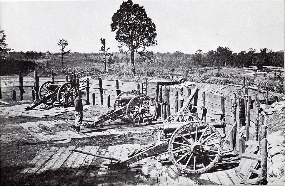 Confederate artillery emplacements