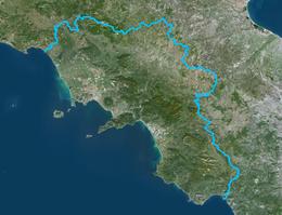 Cartina Fiumi Campania.Campania Wikipedia