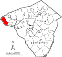 Map of Lancaster County, Pennsylvania highlighting Conoy Township