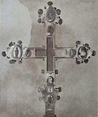 Coronation Cross of Bohemia - Back side of the Coronation Cross (picture taken in 1903)