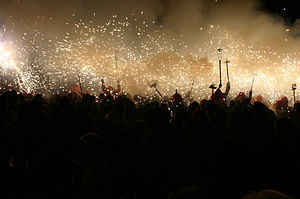 Image from the Correfoc, Barcelona, September ...