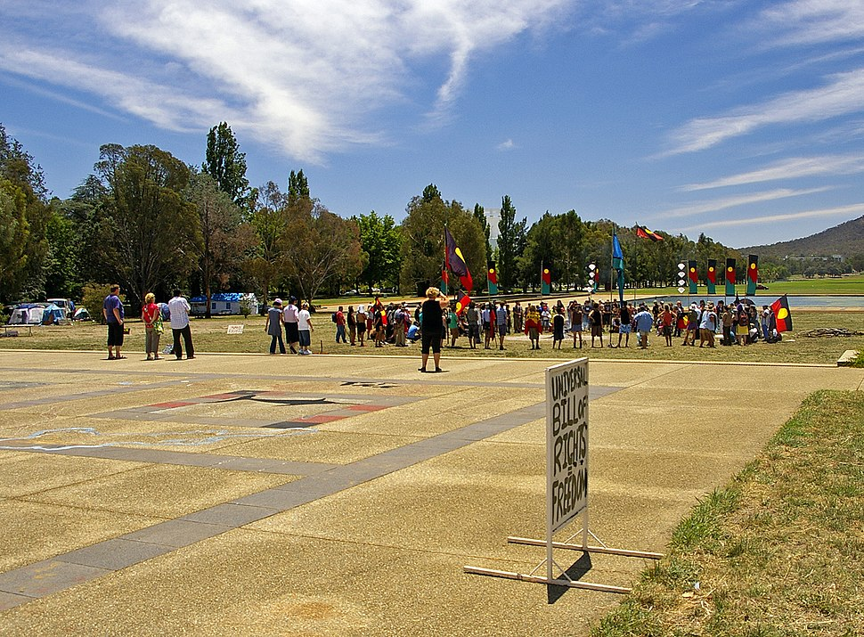 Corroboree for Sovereignty at the Aboriginal Tent Embassy in Parkes, ACT