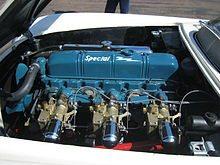 1953 Corvette Blue Flame engine