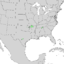 Cotinus obovatus range map 3.png