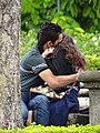 Couple Embracing in Park - Downtown San Jose - Costa Rica (8476628117).jpg