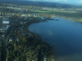 Courtenay, British Columbia - Courtenay, 31 October 2015, seen from a Cessna