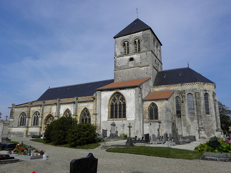 Église Saint-Martin de Courtisols (51). Vue méridionale.