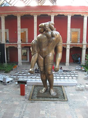 "José Luis Cuevas - Courtyard of the José Luis Cuevas Museum with ""La Giganta"""