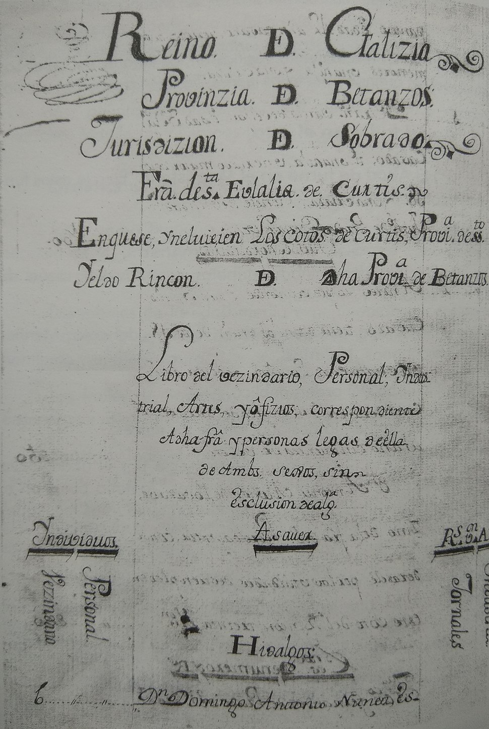 Couto do Rincon na provincia de Betanzos