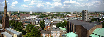 Coventry Cathedral Tower North Panorama.jpg