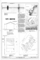 Cover Sheet, Floor Plan, Site Plan, and Section - Chalfonte Hotel, Tin House, Howard Street and Sewell Avenue, Cape May, Cape May County, NJ HABS NJ-743-B (sheet 1 of 2).png