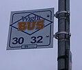 Cowes Ward Avenue bus stop flag.JPG