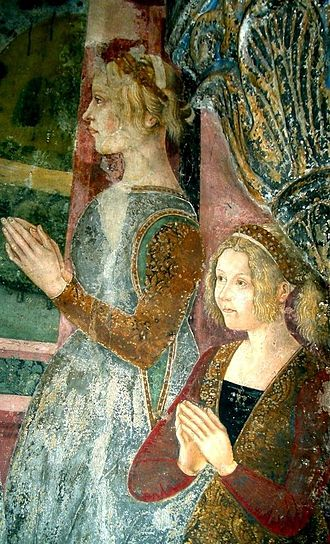 Blanche of Montferrat - Blanche, on the left, and her younger sister, Giovanna