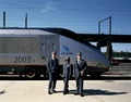 Crew of Amtrak's new Acela Express trainset model their new uniforms. Washington, D.C LCCN2011633271.tif