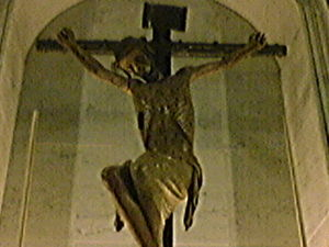 Oristano - The Christ in the Church of St. Francis