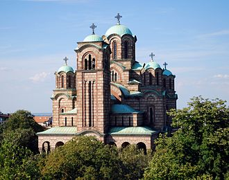 Serbian culture - Church of St. Mark in Belgrade is built in the Moravian (Moravska) style.