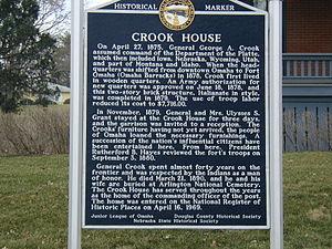 General Crook House - Nebraska State Historical Marker for the General Crook House