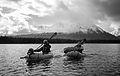 Crossing Lower Kathleen Lake in packrafts (10249802145).jpg